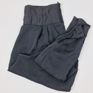 Zara Satin Ankle Zip Harem Pants